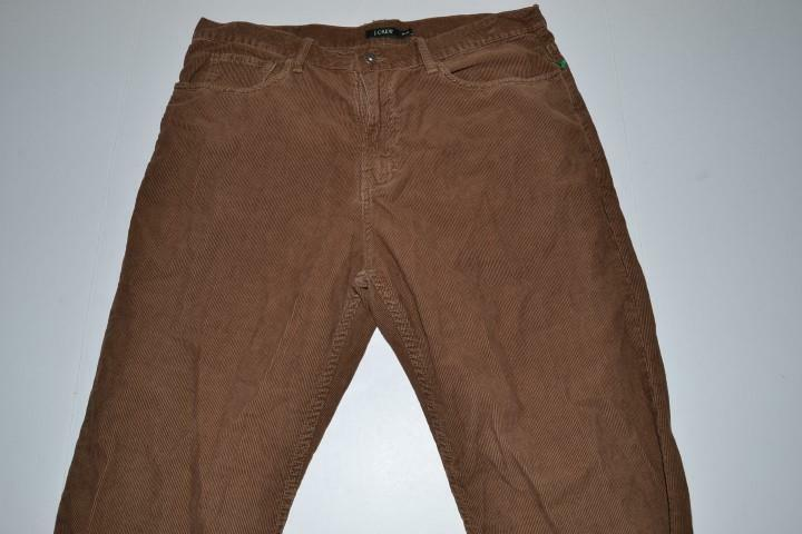 J CREW BROWN CORDUROY DRESS PANTS MENS SIZE 35 X 32