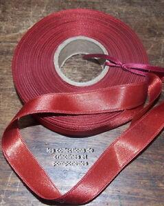 Ruban De Satin De 1.5cm Bordeaux Le Rouleau De 15 M Super Promo*