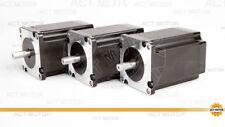 ACT MOTOR GmbH 3PCS Nema23 Stepper Motor 23HS8840D8P1-C 4A 2.2Nm φ 8mm D-Shaft