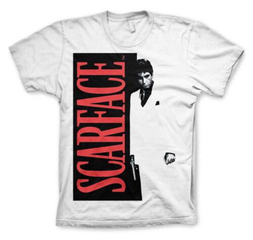 Cartel De Cine Unisex oficial con licencia Scarface Tony Montana Blanco T-Shirt