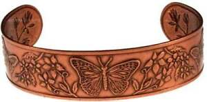Solid-Copper-Bracelet-Cuff-Butterfly-Handmade-Jewelry-Adjustable-Arthritis-Pain