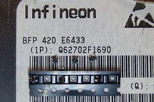 50pcs BFP420 Transistor RF 25GHz 160 mW 4,5 V SOT343 négatif Positif Négatif Infineon