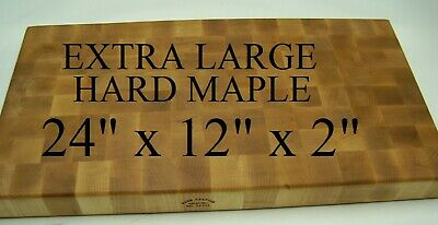 Beautiful Extra Large Solid Hard Maple End Grain Cutting Board Butcher Block,