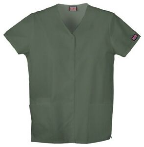Cherokee Workwear Scrub Short Sleeve Snap Front 4770 OLVW ...
