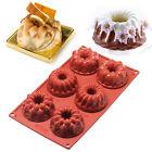 6-Cavity Silicone Mini Bundt Mold Baking Pan Savarin Kouglof Cookie Bakeware