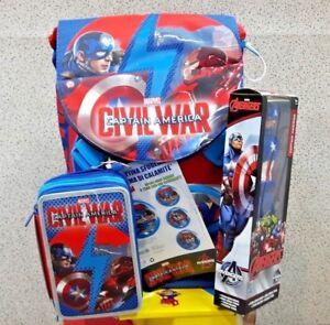 e28cb1c953 Caricamento dell'immagine in corso Zaino-scuola-Seven-estensibile-Avengers- Civil-War-con-