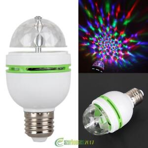 3w E27 Rgb Crystal Ball Rotating Led Stage Light Bulbs Disco