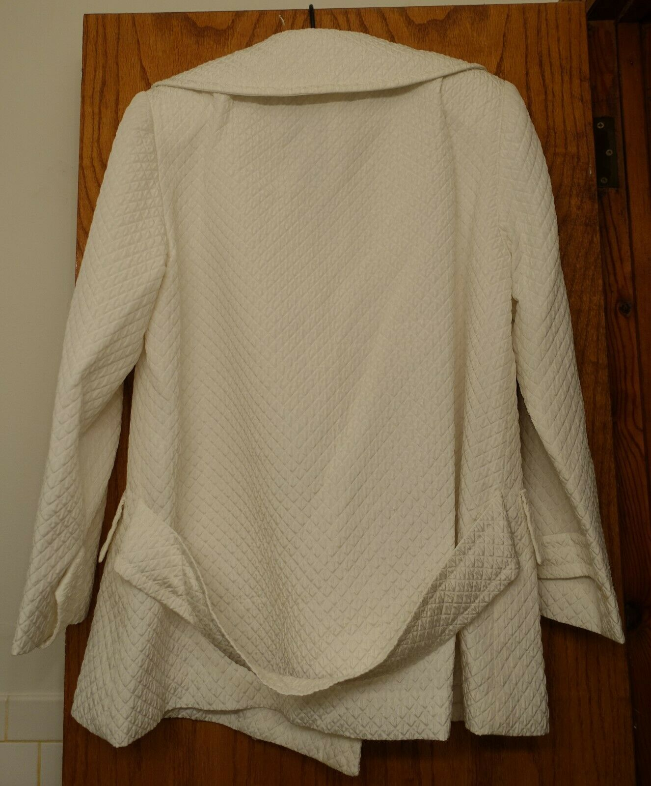 ANNA SUI VINTAGE 1990S WHITE QUILTED WIDE COLLAR … - image 2