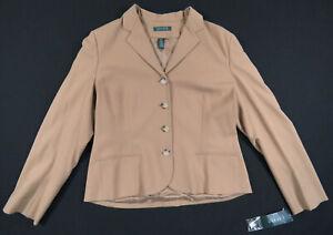NWT-Lauren-Ralph-Lauren-Wool-Stanwood-Camel-Tan-Button-Womens-Jacket-Blazer-14