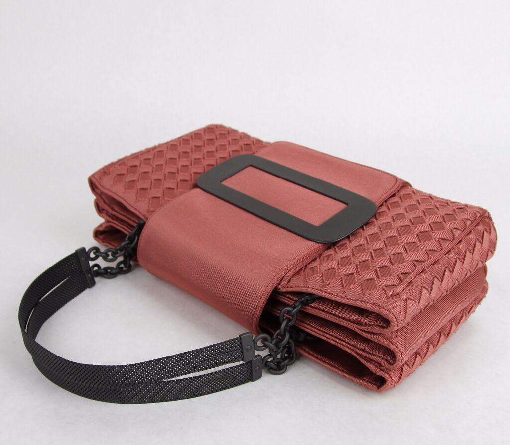 New BOTTEGA VENETA Coral Intrecciato Tote Handbag Chain Handle 309348 6323  | eBay