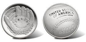 2014-S-National-Baseball-Hall-of-Fame-HOF-PROOF-Clad-Half-Dollar-w-Box-amp-COA