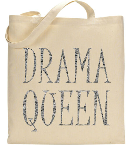 Drama Queen Jewellry Pearls Text Alphabets Slogan Fun Celebirty Movie Tote Bag
