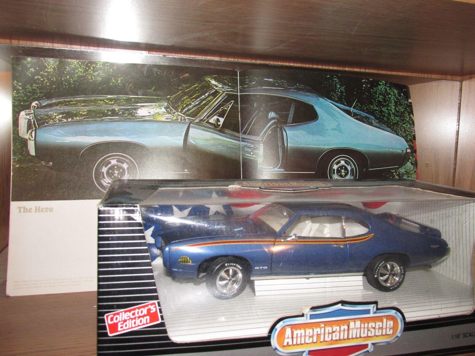 1969 Pontiac Gto Azul Edición 1996 edición limitada de 1 1 1 18 69 juez Cabra 8edba5