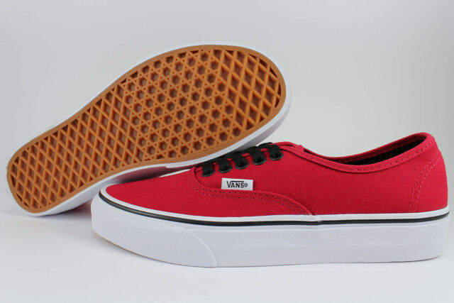c5ba6f0aef VANS AUTHENTIC CHILI PEPPER RED BLACK WHITE CLASSIC SKATE ERA US MEN WOMEN  SIZES