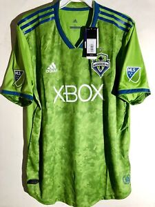 save off a89ae 2e6e5 Details about Adidas Authentic MLS Jersey Seattle Sounders Team Green sz S