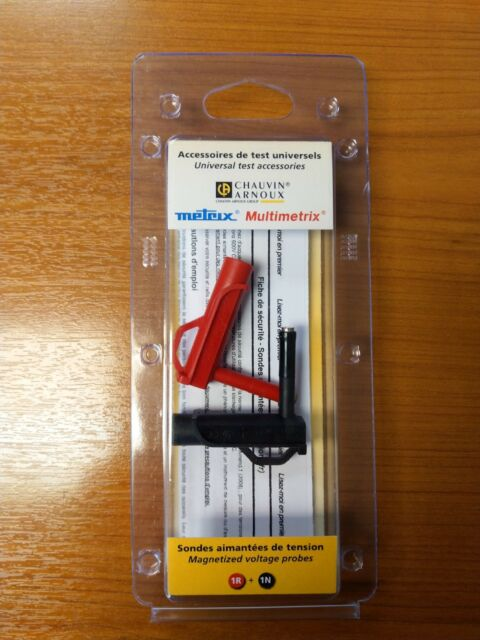 Red//Black 2 magnetised Chauvin Arnoux P01103058Z Test Equipment probes