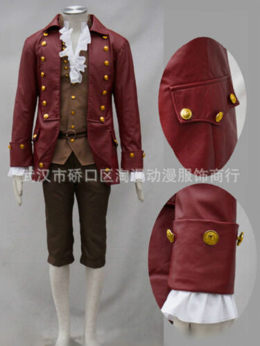 New Movie Beauty and the Beast Gaston Cosplay Costume Halloween Mens Uniform FF