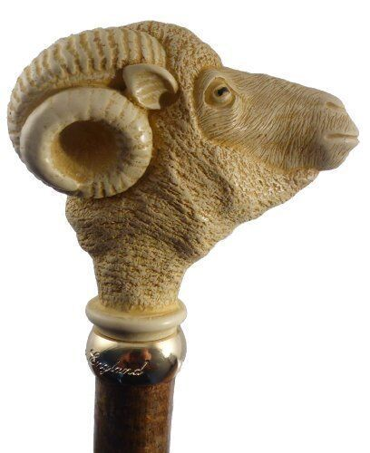 ImitaBinden Bone Ram Head Hazel Wandelende Trekking Pole Stick staf...