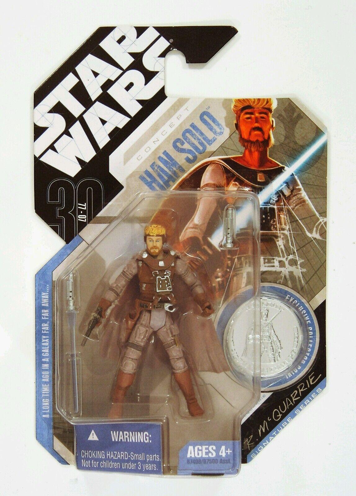 Hasbro Star Wars 30  Concept Mcquarrie Ian solo Statuetta con Moneta