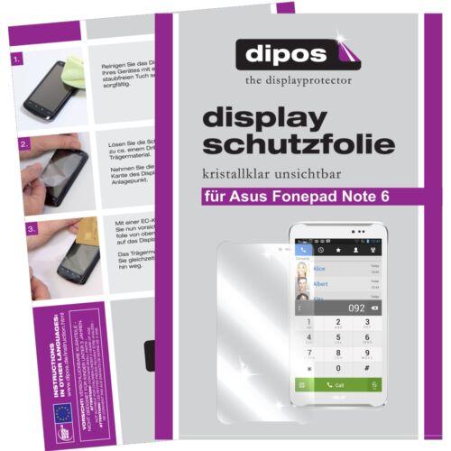 ASUS FonePad Note 6 película protectora claramente protector de pantalla Lámina dipos protector de pantalla