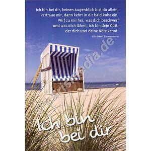 Karte Mit Cd Ich Bin Bei Dir Cd Card Motiv Strand Neu Ebay