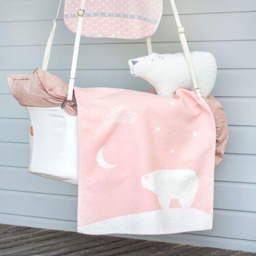 David Fussenegger Baby Kinderdecke Kuscheldecke Decke Eisbär rosa 65 x 90 cm