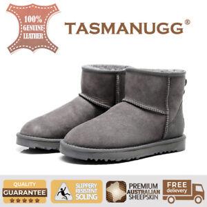 92b28904266 Details about UGG TASMAN -Mini Ankle Boots,Premium Aus Sheepskin,  water-resistant, Grey Cl