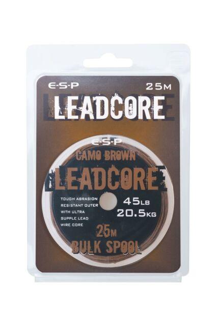 ESP 45lb WEEDY GREEN /& CHODDY SILT LEADCORE BULK SPOOL-25mtr