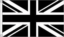 Union Jack Black and White 5'x3' Flag