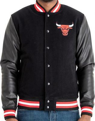 Details about Jacket New Era Nba Chicago Bulls Team Logo Varsity Black Men