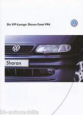 VW Sharan Carat VR6 Prospekt 2 97 brochure 1997 Auto PKW Autoprospekt Volkswagen