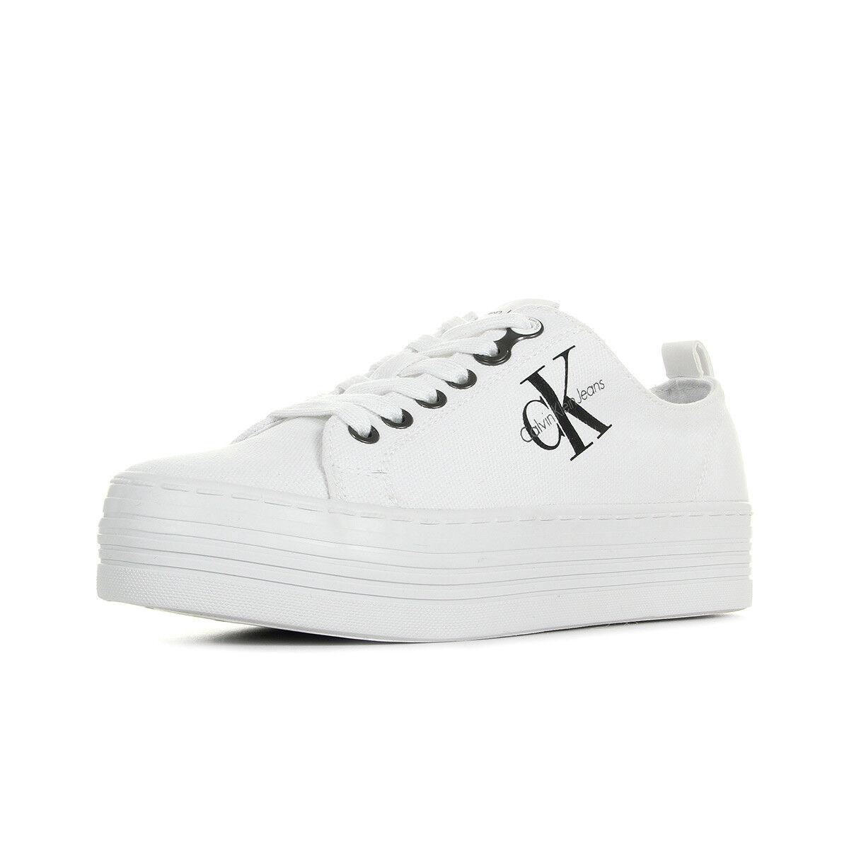 Schuhe Calvin Klein Damen Zolah Canvas Blanc weiß