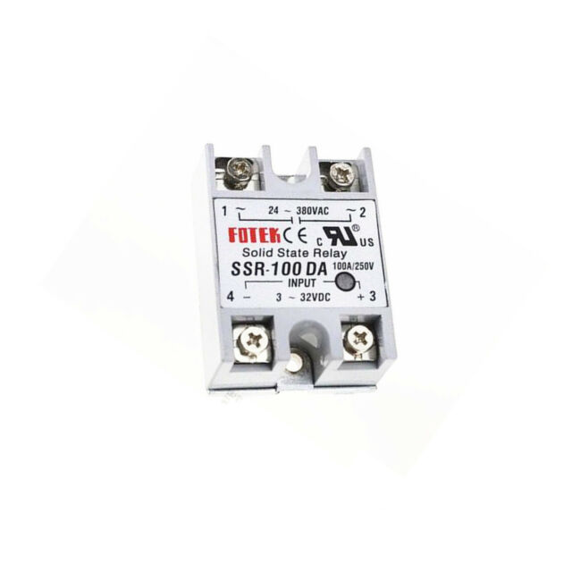 SSR-100AA 100A Solid State Relay Module 80-250V AC Input 24-380VAC
