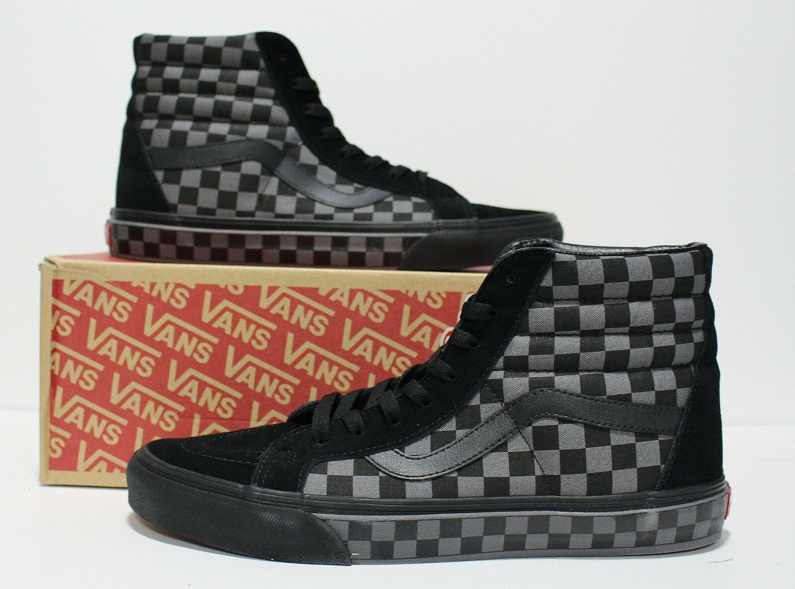 Vans SK8 Hi Reissue Checkerboard Black Pewter Women's Size    5.5 79d00a