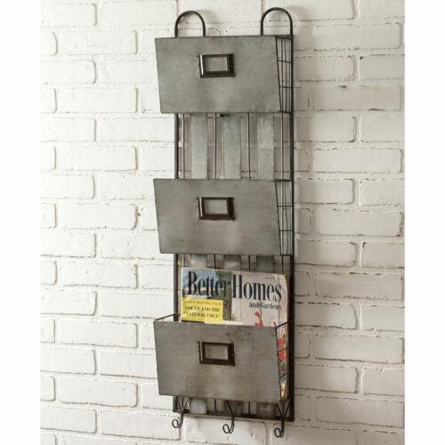 Three Pocket Metal Wall Organizer