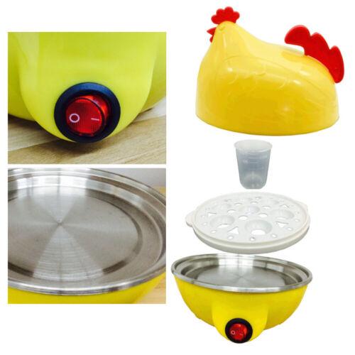 EE/_ Chicken Shape 7 Holes Electric Egg Boiler Steamer Cooker Kitchen Cooking Too