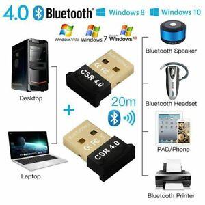USB Bluetooth Adapter 4.0 CSR High Speed Dongle Wireless for PC Laptop Desktop