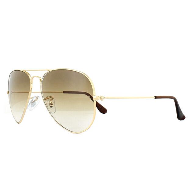 Ray-Ban Sunglasses Aviator 3025 001/51 Gold Brown Gradient Medium 58mm