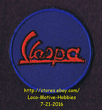 LMH Patch Badge  VESPA SCOOTER Motorcycle Piaggio Wasp Italian Bike Cycle  Blue