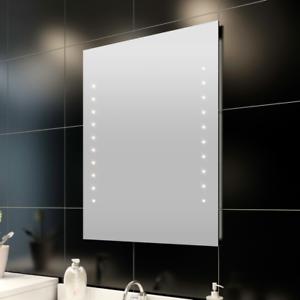 Espejo de ba o con 30 led luz iluminacion en pared 60 x 80 cm bath mirror blanco ebay - Iluminacion bano led ...
