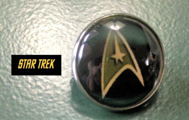 Star Trek Starfleet TOS TNG VOY Beyond Logo Command Brooch Badge Pin Cosplay New