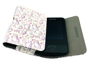 Tasche für das Dexcom G6 Gürtelclip - Kids Kinder Creme Weiß mit Einhorn Motiven