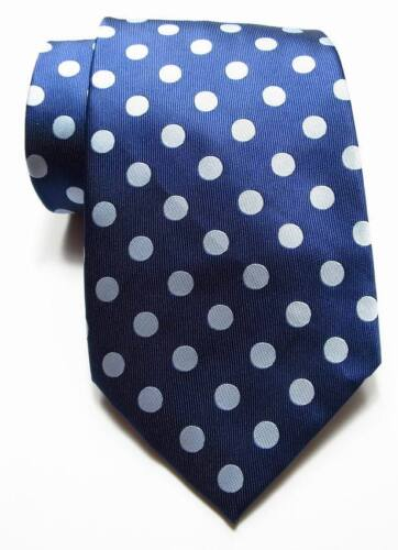 New Classic Polka Dot Dark Blue Gray JACQUARD WOVEN 100/% Silk Men/'s Tie Necktie