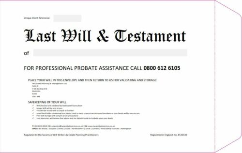 Last Will and Testament Envelope Kit