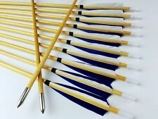 Pretty 12PK Handmade Wood Arrows Turkey Feather Hunting for Recurve Compound Bow