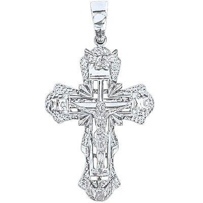 Anhänger Kreuz, Silber 925, rhodiniert