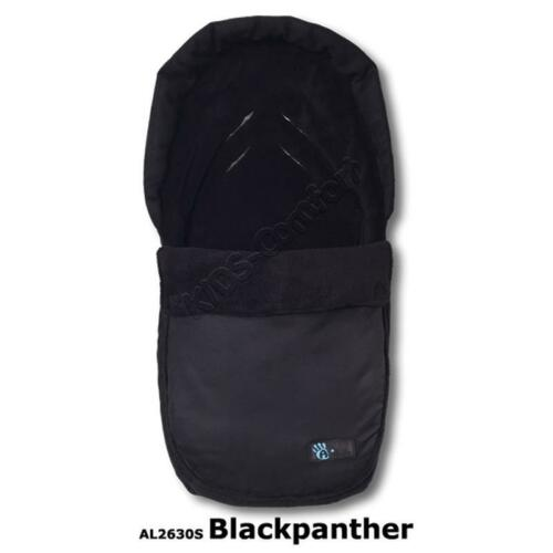 Altabebe Winterfußsack Velours Car Seat AL2630S Blackpanther Schwarz