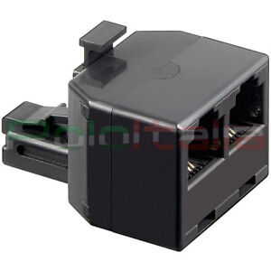 Connettore Per Telefono Rj11 Duplicatore Porta Switch Hub Da 1maschio A 2femmina RafraîChissant Et BéNéFique Pour Les Yeux