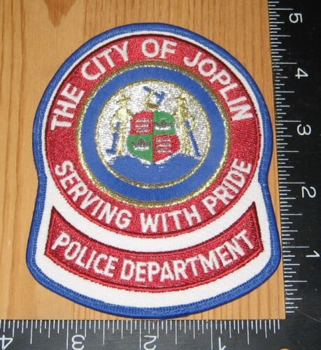 The City of Joplin Serving With Pride Police Department Cloth Patch Only