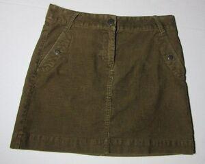 786ad0f59 J CREW Corduroy Mini Skirt Size 2 Vintage Cords Brown | eBay